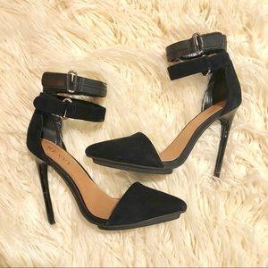 Renvy Black Suede Stilettos